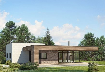 Single-storey house project Lidija