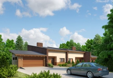 Two-storey twin house project Justas