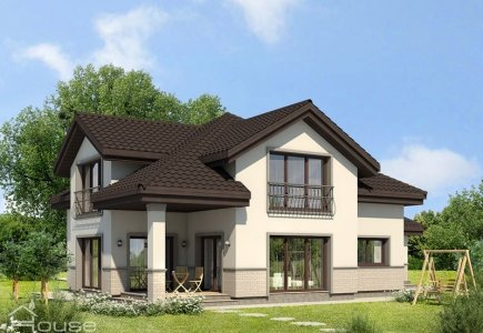 Two-storey house project Rimantas