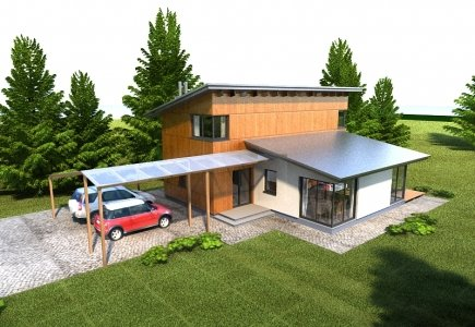 Two-storey house project Vytautas