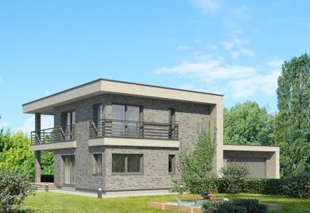 Two-storey house project Odeta