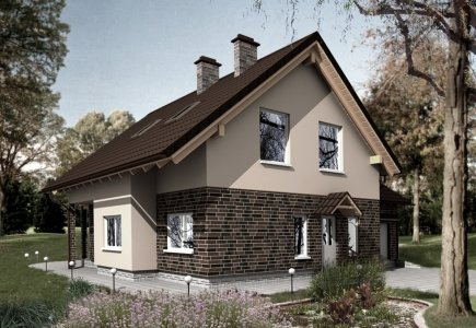 Two-storey house project Jurgita