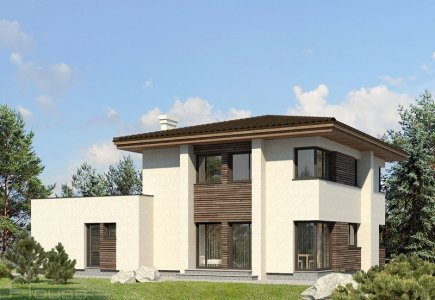 Two-storey house project Airidas