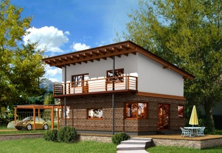 Two-storey house project Vaidotas