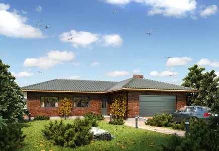 Single-storey house project Kevinas
