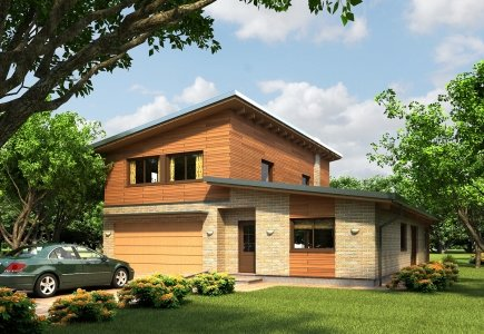 Two-storey house project Kamile