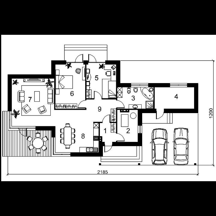 Single-storey house project Edita
