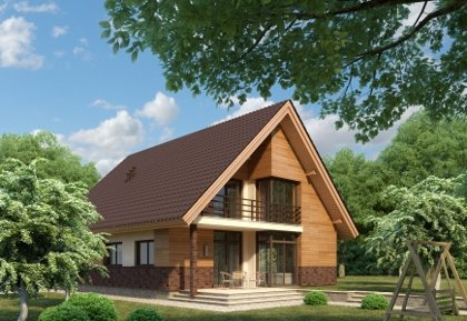 Two-storey house project Liudas