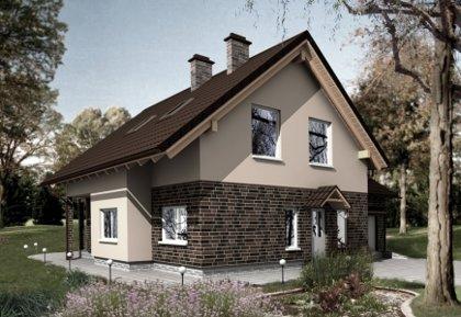 Two-storey house project Jurgita