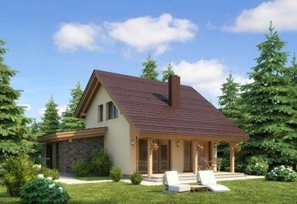 Two-storey house project Deimantas